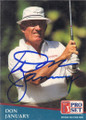 Don January Autographed Golf Card 762
