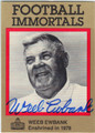 WEEB EWBANK BALTIMORE COLTS & NEW YORK JETS AUTOGRAPHED FOOTBALL CARD #80113D