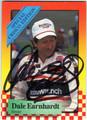 DALE EARNHARDT SR AUTOGRAPHED NASCAR CARD #80113E