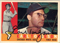 EARL TORGESON CHICAGO WHITE SOX AUTOGRAPHED VINTAGE BASEBALL CARD #80213F