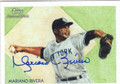MARIANO RIVERA NEW YORK YANKEES AUTOGRAPHED BASEBALL CARD #80213H