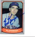 ED KRANEPOOL NEW YORK METS AUTOGRAPHED BASEBALL CARD #80413i