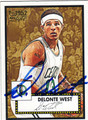 DELONTE WEST BOSTON CELTICS AUTOGRAPHED BASKETBALL CARD #80413K