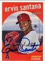 ERVIN SANTANA AUTOGRAPHED BASEBALL CARD #80611D