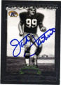 JACK LAMBERT PITTSBURGH STEELERS AUTOGRAPHED FOOTBALL CARD #80413G