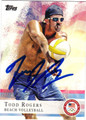 TODD ROGERS AUTOGRAPHED OLYMPICS BEACH VOLLEYBALL CARD #80612G