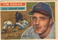 JIM HEGAN CLEVELAND INDIANS AUTOGRAPHED VINTAGE BASEBALL CARD #80813A
