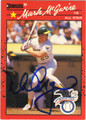 MARK McGWIRE AUTOGRAPHED BASEBALL CARD #80911P