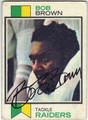 BOB BROWN OAKLAND RAIDERS AUTOGRAPHED VINTAGE FOOTBALL CARD #81213D
