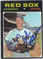 CAL KOONCE BOSTON RED SOX AUTOGRAPHED VINTAGE BASEBALL CARD #81213F