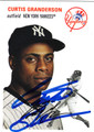 CURTIS GRANDERSON NEW YORK YANKEES AUTOGRAPHED BASEBALL CARD #81412A