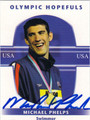 MICHAEL PHELPS AUTOGRAPHED OLYMPIC SWIMMING CARD #81412C