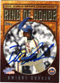 DWIGHT GOODEN NEW YORK METS AUTOGRAPHED BASEBALL CARD #81013G