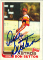 DON SUTTON HOUSTON ASTROS AUTOGRAPHED VINTAGE BASEBALL CARD #81513J
