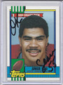 Junior Seau Autographed Rookie Football Card #81610G