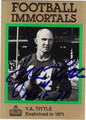 Y A TITTLE AUTOGRAPHED FOOTBALL CARD #81412E