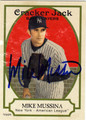 MIKE MUSSINA AUTOGRAPHED BASEBALL CARD #81812D