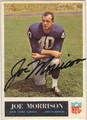 JOE MORRISON AUTOGRAPHED VINTAGE FOOTBALL CARD #81812H