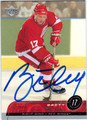 BRETT HULL DETROIT RED WINGS AUTOGRAPHED HOCKEY CARD #81912D