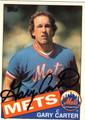 GARY CARTER NEW YORK METS AUTOGRAPHED BASEBALL CARD #81913E