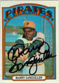 MANNY SANGUILLEN PITTSBURGH PIRATES AUTOGRAPHED VINTAGE BASEBALL CARD #81913i