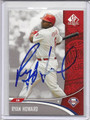 Ryan Howard Autographed Baseball Card #82010G