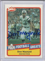 Don Maynard Autographed Football Card #82010Z