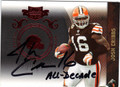 JOSH CRIBBS CLEVELAND BROWNS AUTOGRAPHED & NUMBERED FOOTBALL CARD #82013E