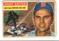 GRADY HATTON BOSTON RED SOX AUTOGRAPHED VINTAGE BASEBALL CARD #82013F