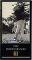 BYRON NELSON AUTOGRAPHED GRAND SLAM VENTURES GOLF CARD #82113C