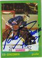 ED GIACOMIN AUTOGRAPHED VINTAGE HOCKEY CARD #82212C
