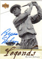BYRON NELSON AUTOGRAPHED GOLF CARD #82213C