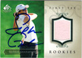 SOPHIE GUSTAFSON AUTOGRAPHED PIECE OF THE GAME GOLF CARD #82213G