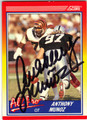 ANTHONY MUNOZ CINCINNATI BENGALS AUTOGRAPHED FOOTBALL CARD #82313J