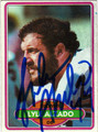 LYLE ALZADO AUTOGRAPHED VINTAGE FOOTBALL CARD #82411C