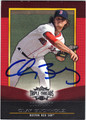 CLAY BUCHHOLZ AUTOGRAPHED & NUMBERED BASEBALL CARD #82412F