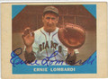 ERNIE LOMBARDI NEW YORK GIANTS AUTOGRAPHED VINTAGE BASEBALL CARD #82513A