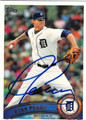 RYAN PERRY DETROIT TIGERS AUTOGRAPHED BASEBALL CARD #82613B