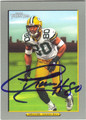 DONALD DRIVER GREEN BAY PACKERS AUTOGRAPHED FOOTBALL CARD #82613E