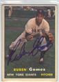 RUBEN GOMEZ NEW YORK GIANTS AUTOGRAPHED VINTAGE BASEBALL CARD #82713B