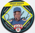 DWIGHT GOODEN NEW YORK METS AUTOGRAPHED BASEBALL CARD #82710R