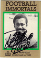 PAUL WARFIELD CLEVELAND BROWNS AUTOGRAPHED FOOTBALL CARD #82913B