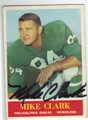 MIKE CLARK PHILADELPHIA EAGLES AUTOGRAPHED VINTAGE ROOKIE FOOTBALL CARD #82913H