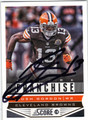 JOSH GORDON CLEVELAND BROWNS AUTOGRAPHED FOOTBALL CARD #82913D