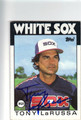 TONY LaRUSSA CHICAGO WHITE SOX AUTOGRAPHED BASEBALL CARD #83013B