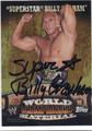 SUPERSTAR BILLY GRAHAM AUTOGRAPHED WRESTLING CARD #83013F