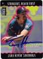 RANDY JOHNSON SEATTLE MARINERS AUTOGRAPHED BASEBALL CARD #83013i