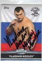 VLADIMIR KOZLOV AUTOGRAPHED WRESTLING CARD #83113H