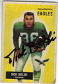 DICK BIELSKI PHILADELPHIA EAGLES AUTOGRAPHED VINTAGE FOOTBALL CARD #90213i
