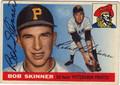 BOB SKINNER PITTSBURGH PIRATES AUTOGRAPHED VINTAGE BASEBALL CARD #90313N